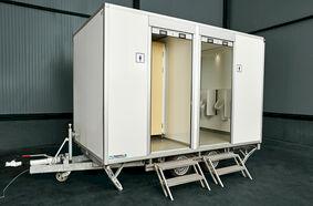 Berg toilet en douchewagen verhuur
